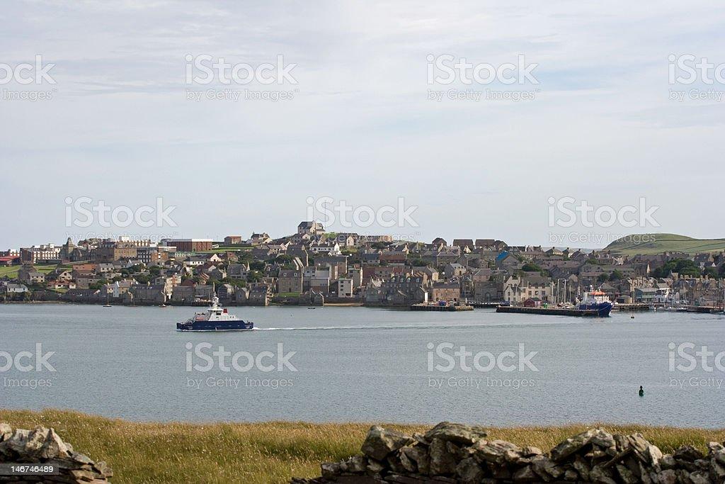 Lerwick in Shetland Islands royalty-free stock photo