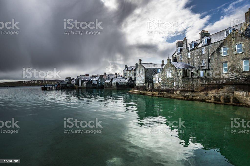 Lerwick old town, Shetland Islands, Scotland stock photo