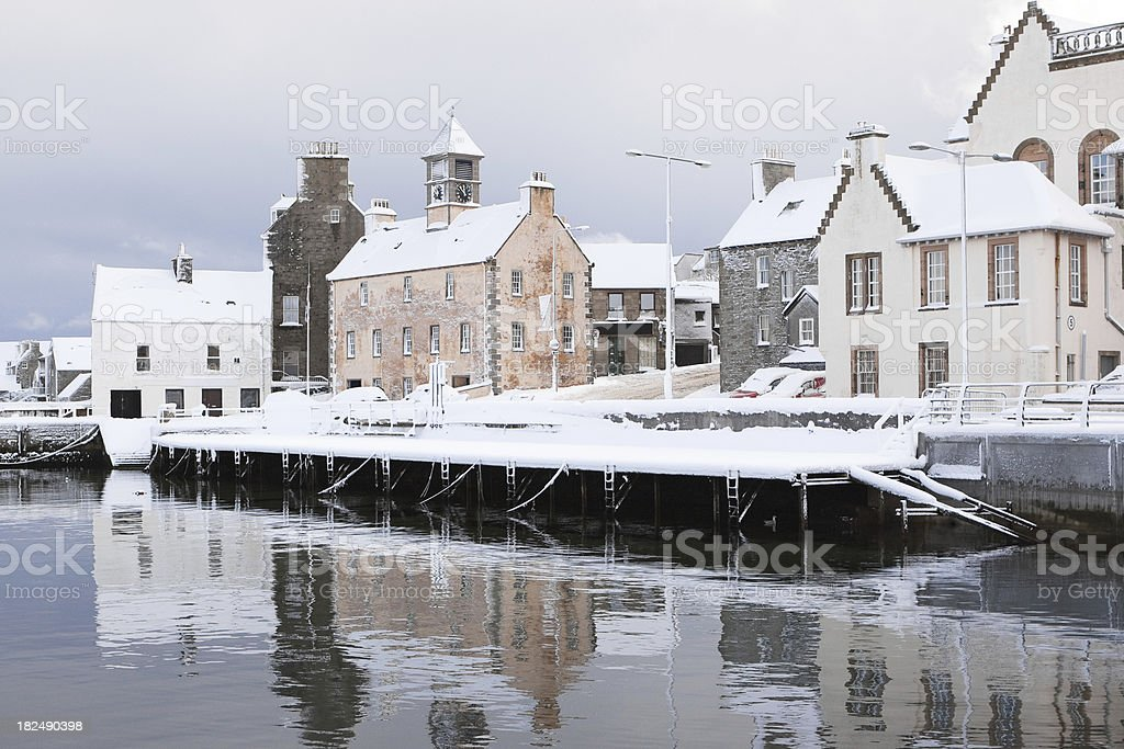 Lerwick Reflections royalty-free stock photo