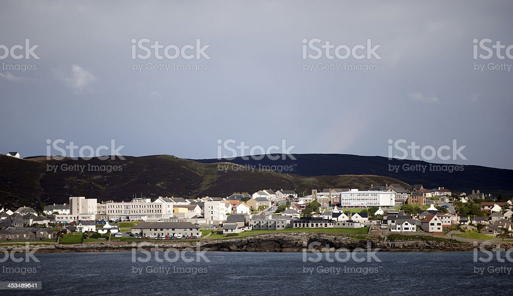Lerwick Shetland Islands Viewed From West of the Knab royalty-free stock photo