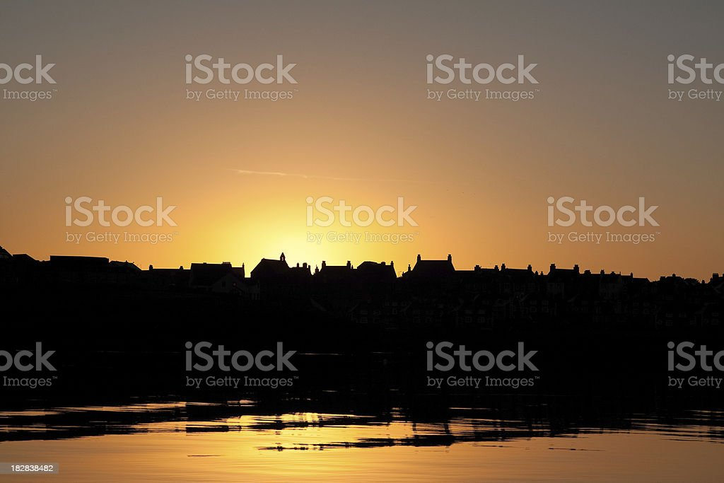 Lerwick Silhouette royalty-free stock photo