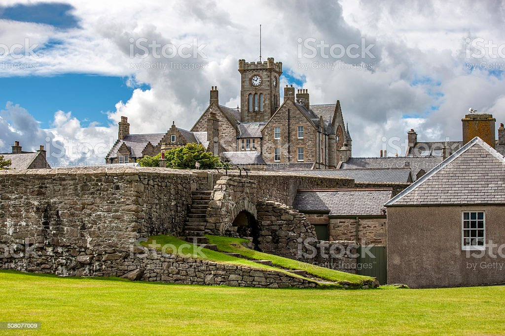 Lerwick, Town Hall, Shetland, Scotland stock photo