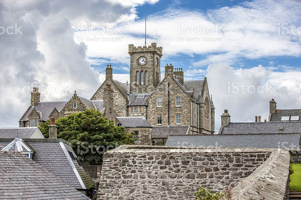 Lerwick, Town Hall, Shetland, Scotland2 stock photo
