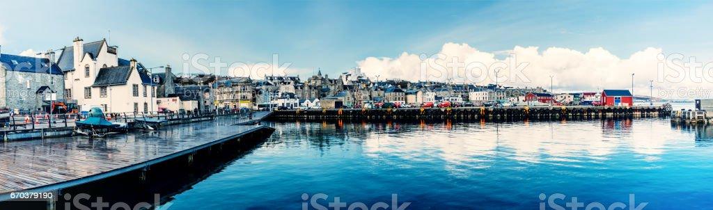 Lerwick town panorama, Shetland Islands, Scotland stock photo