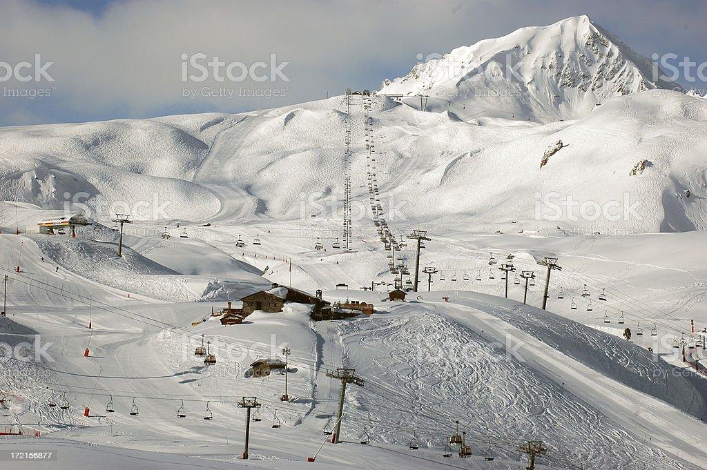 Les Arcs Ski Resort 3 royalty-free stock photo