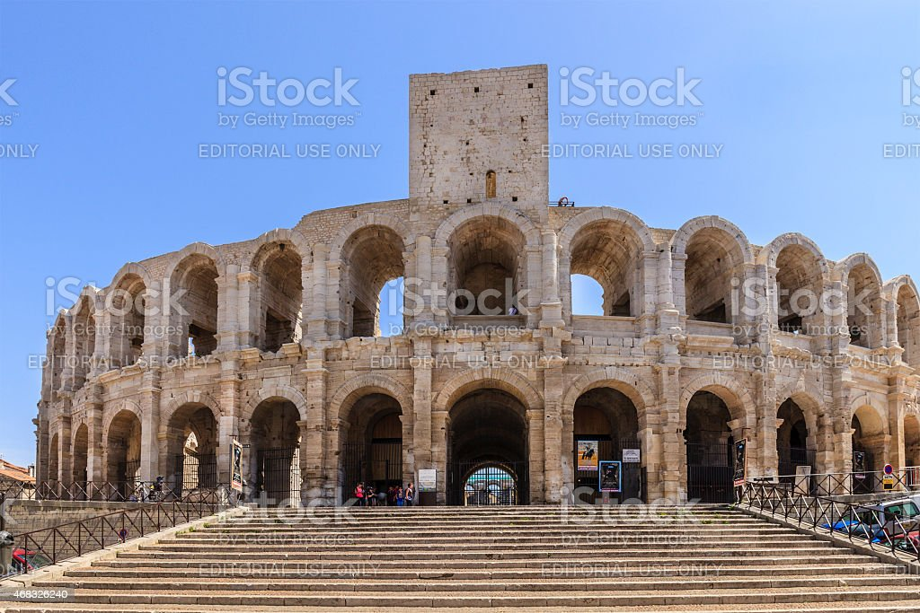 Les Arènes d'Arles - the Amphitheatre - France stock photo