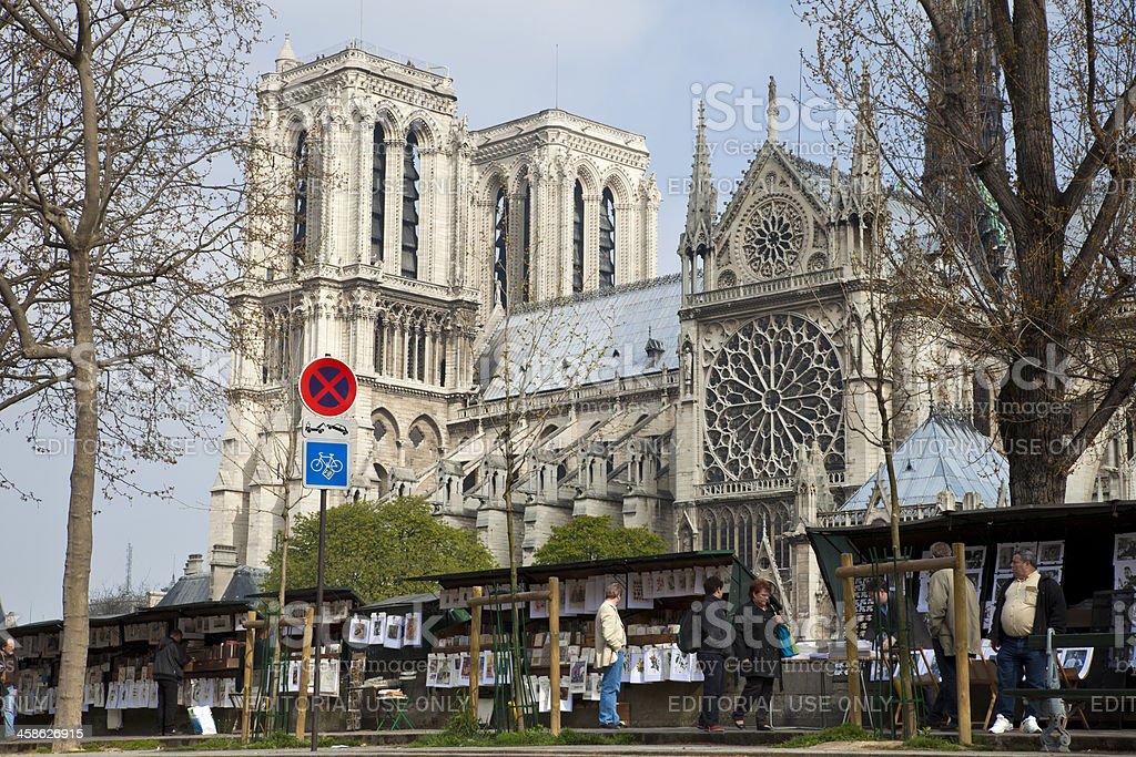 Les bouquinistes market in Paris royalty-free stock photo