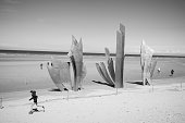 Les Braves memorial at Omaha Beach, Normandy, France