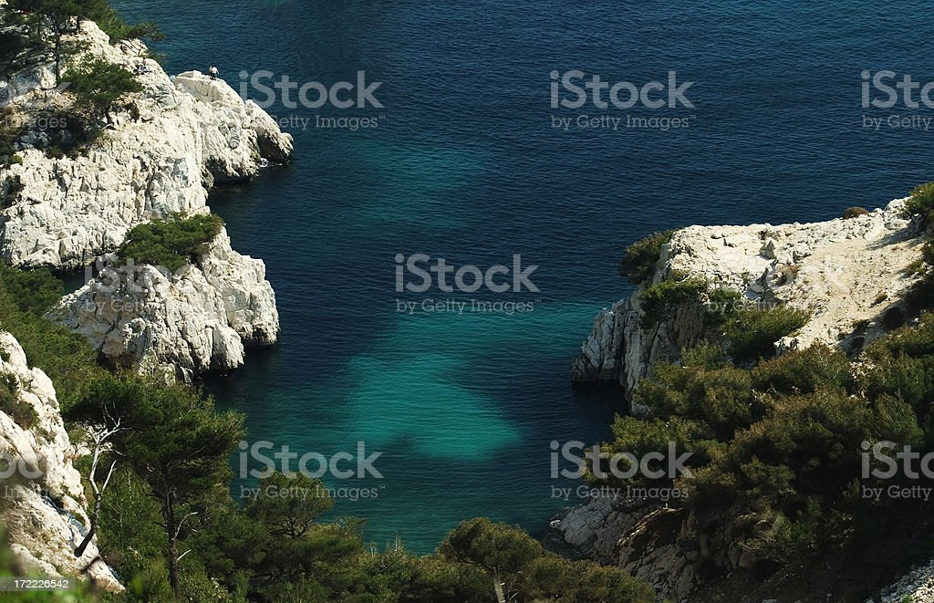 Les Calanques, France royalty-free stock photo