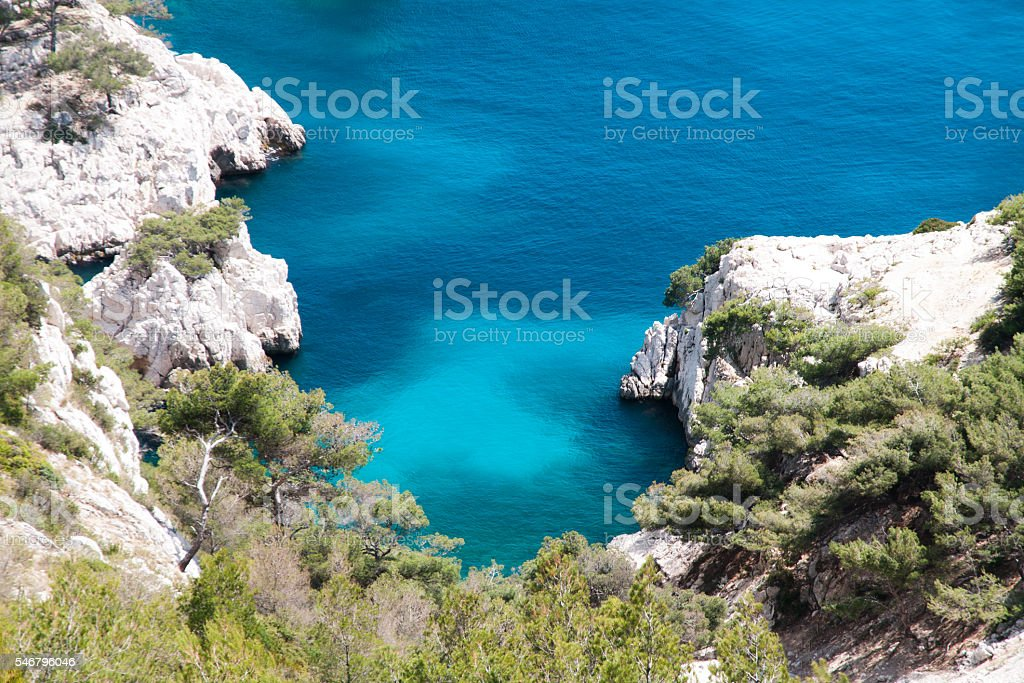 Les Calanques on the French Riviera - Marseille stock photo
