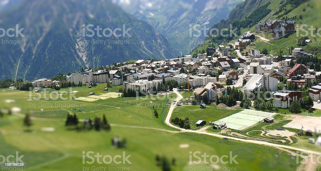 Les deux Alpes Ski Resort stock photo