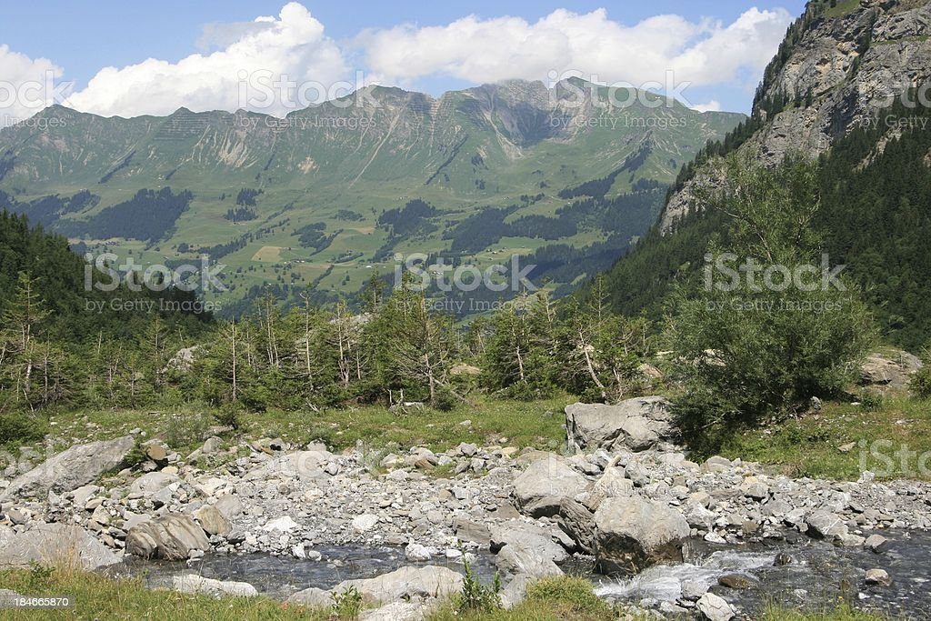Les Diablerets area in Swiss Alps royalty-free stock photo