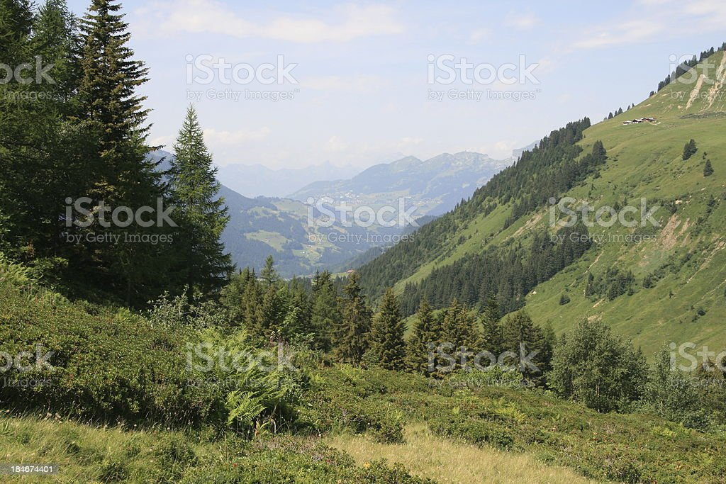Les Diablerets Area in Swiss royalty-free stock photo