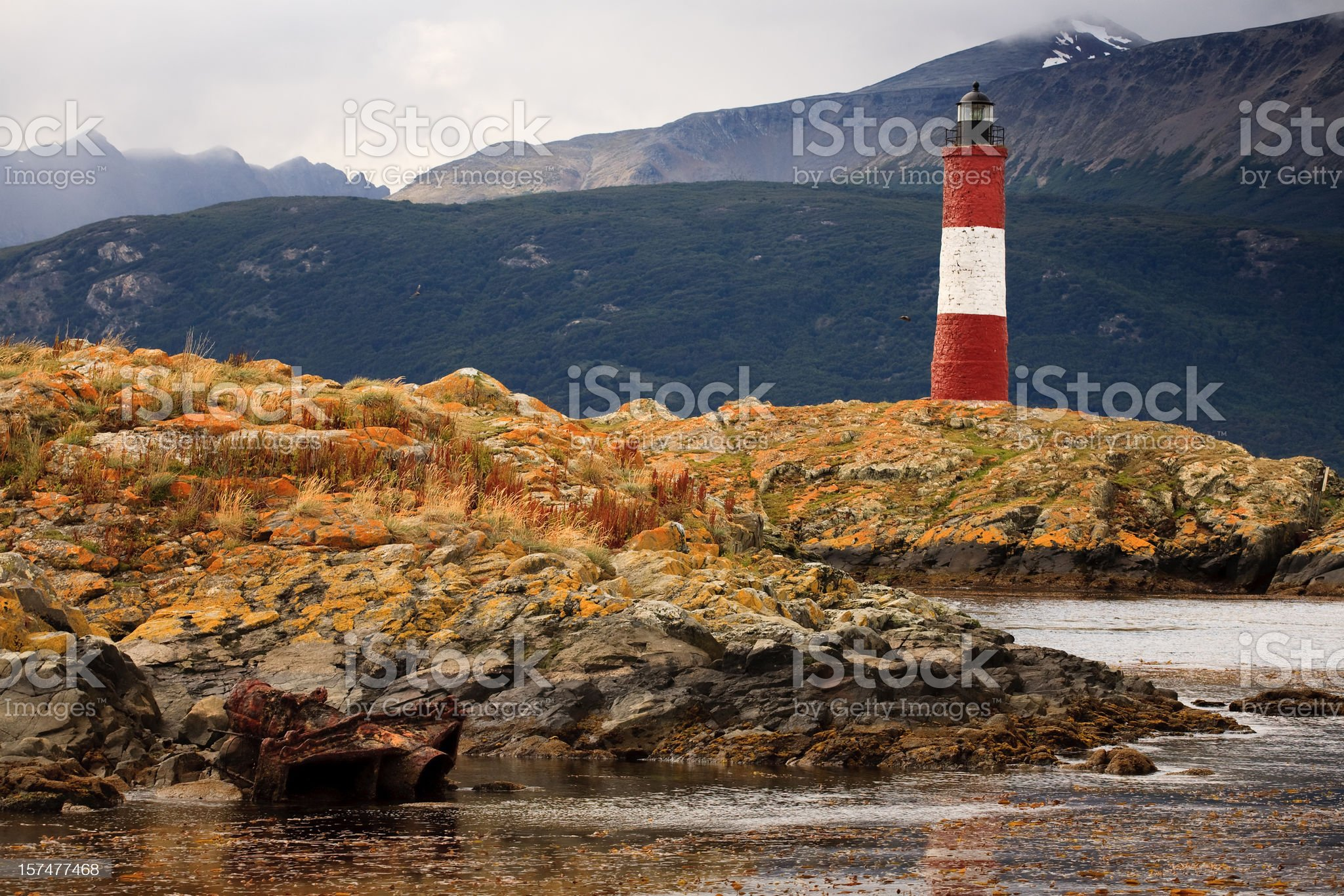 Les Eclaireurs Lighthouse royalty-free stock photo