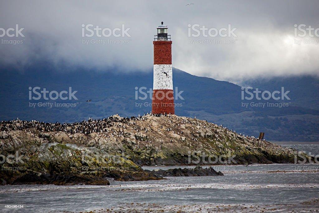 Les Eclaireurs Lighthouse Ushuaia Argentine stock photo