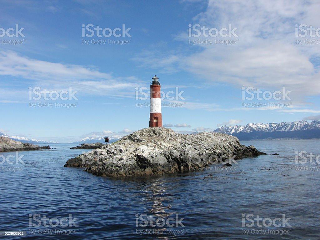 Les Eclaireurs Lighthouse - Ushuaia stock photo