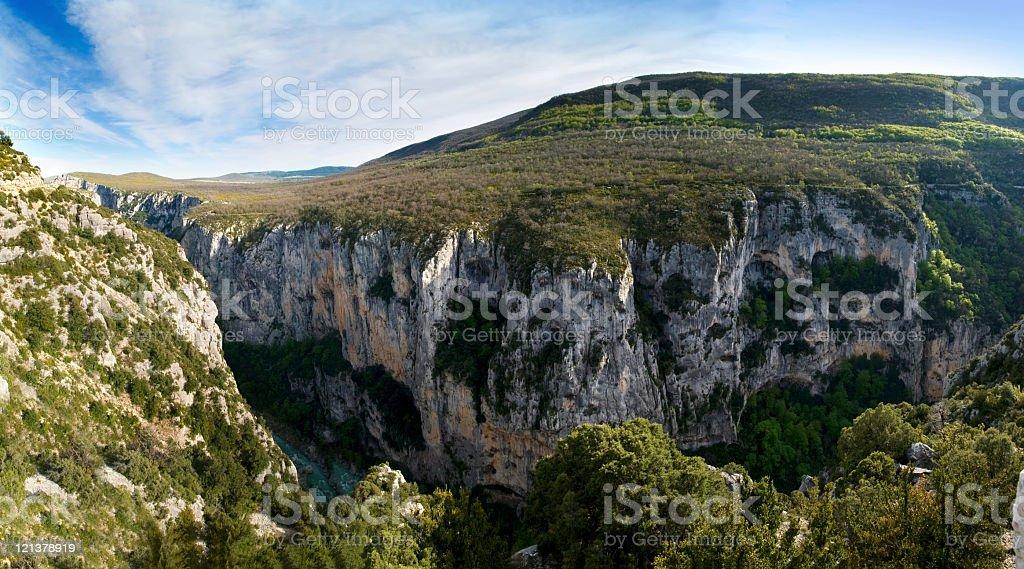 Les Gorges du Verdon (XXXL) stock photo