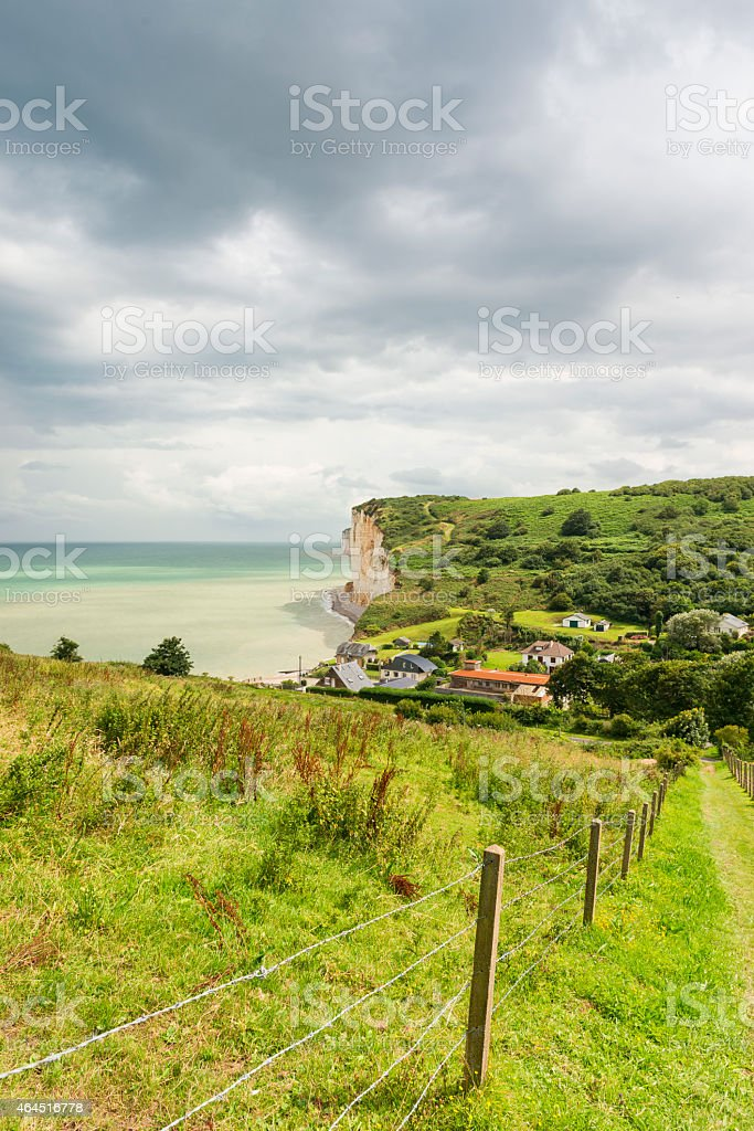 Les Grandes Dalles Normandy stock photo