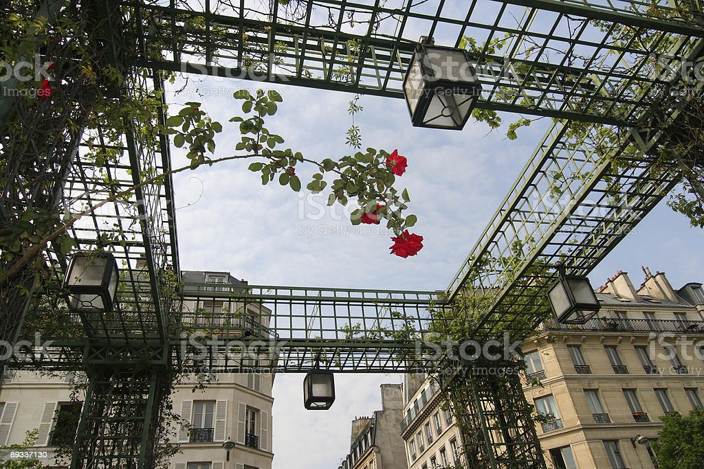 Les Halles and Apartments in Paris royalty-free stock photo
