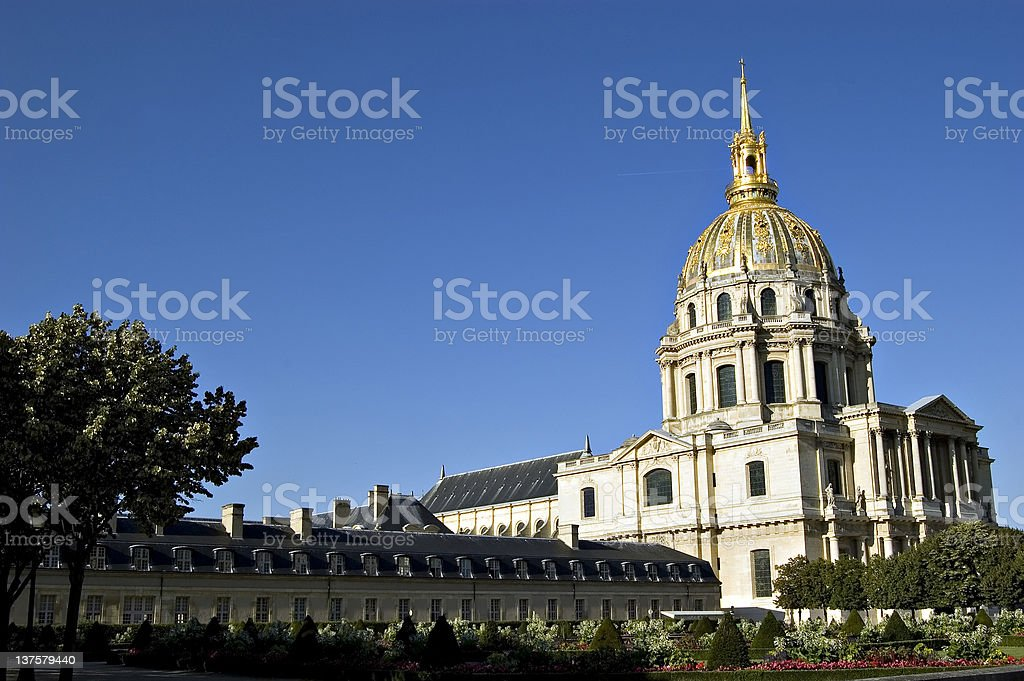 Les Invalides in Paris. France royalty-free stock photo