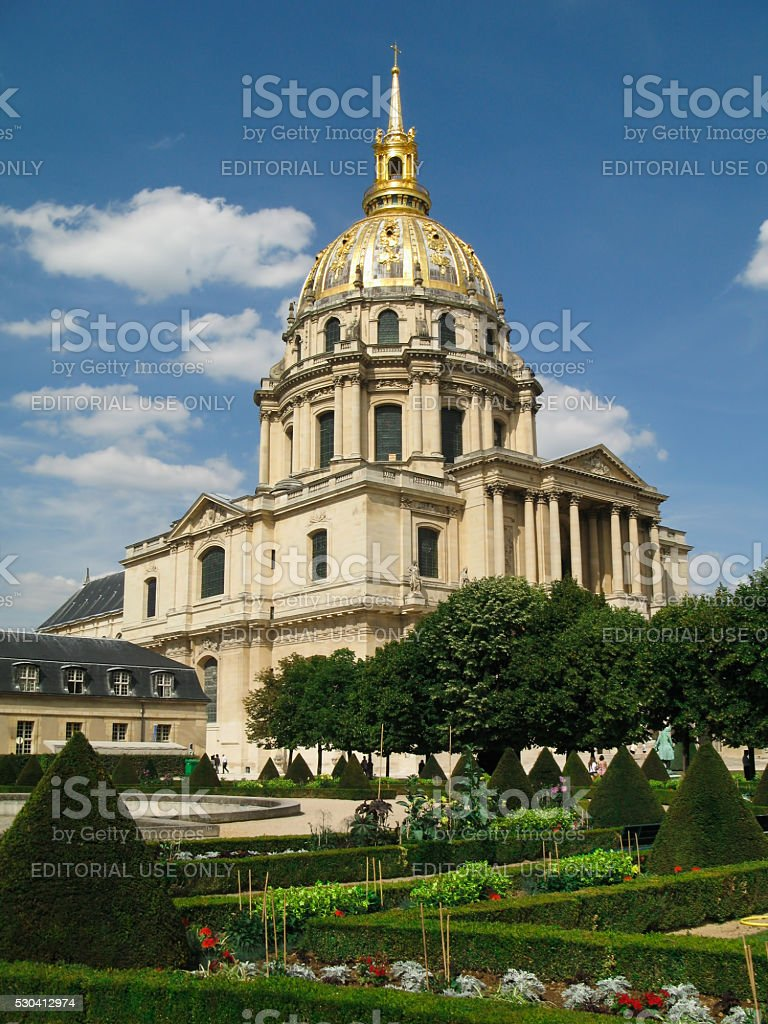 Les Invalides  in  Paris, France. stock photo