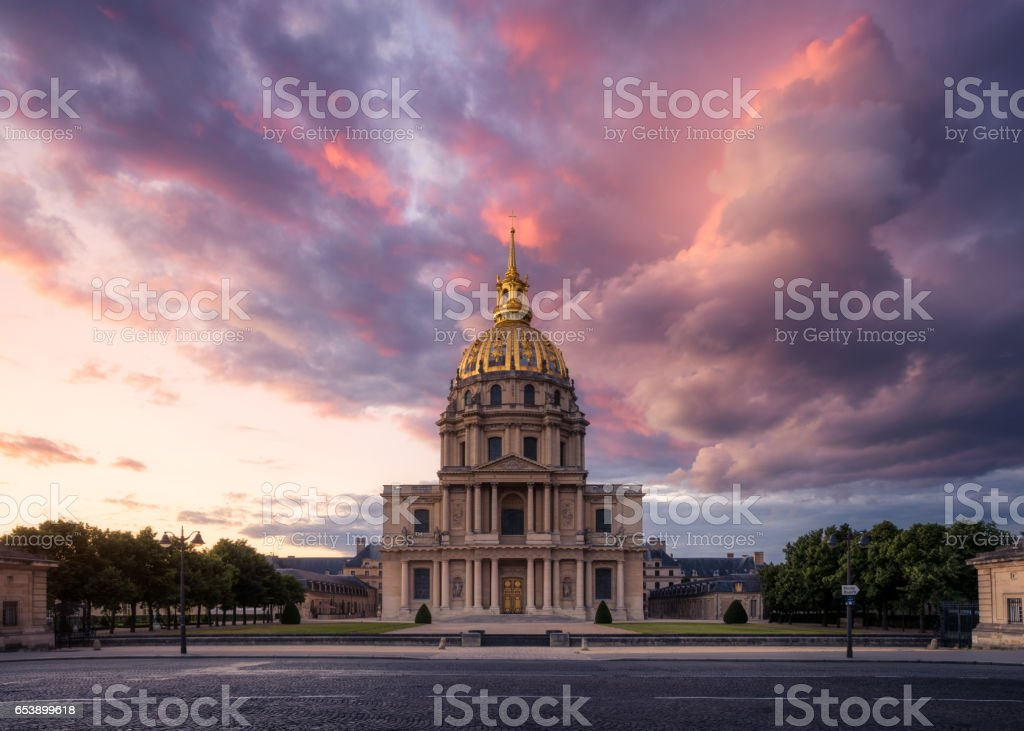 Les Invalides, Paris, France stock photo