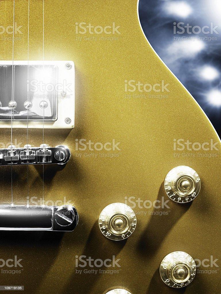 Les Paul guitar stock photo
