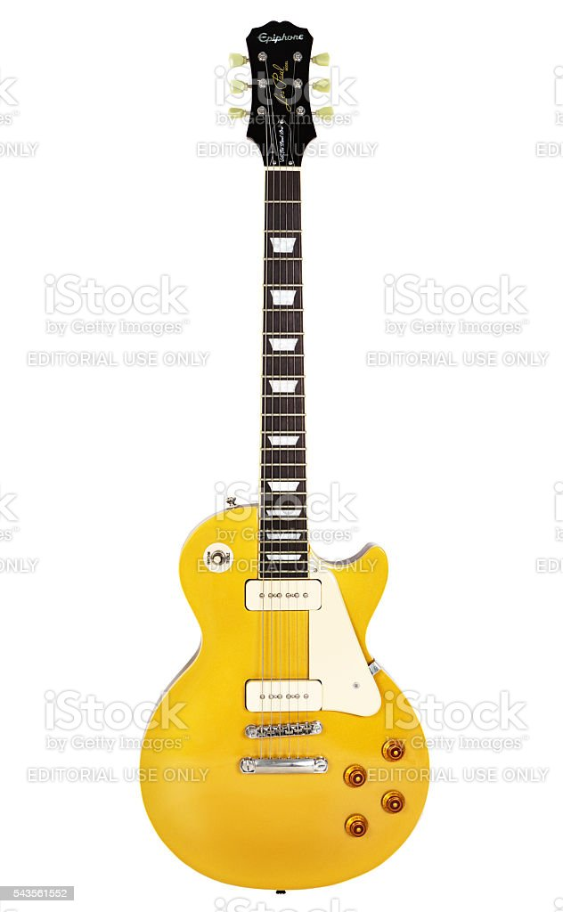 '56 Les Paul Pro electric guitar stock photo