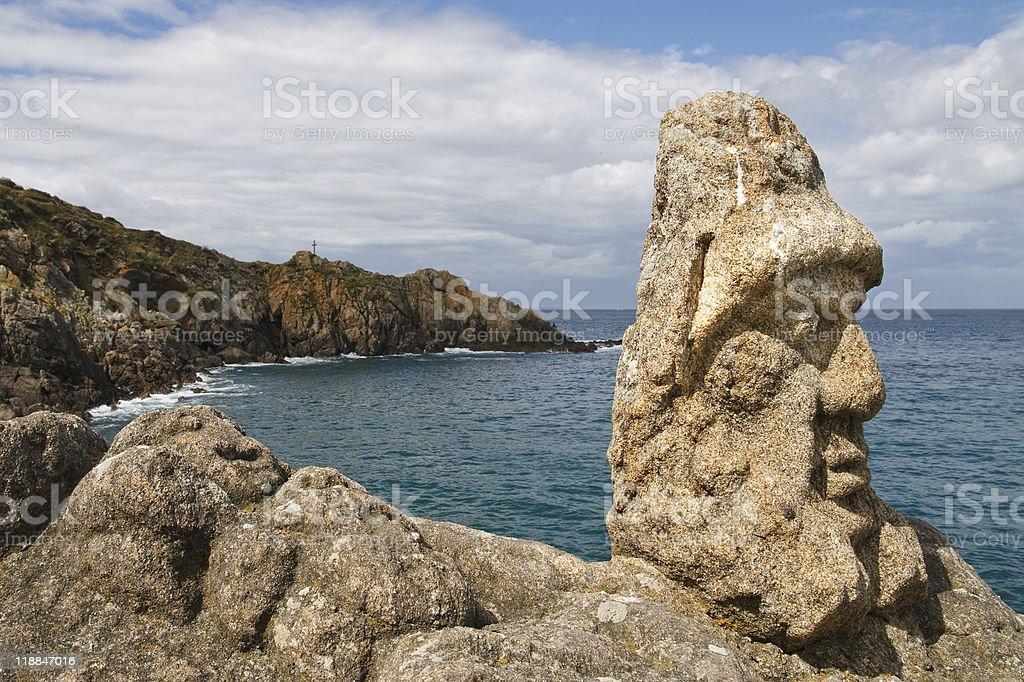 Les Rochers Sculptes (Sculptures) in Rotheneuf, Saint-Malo stock photo