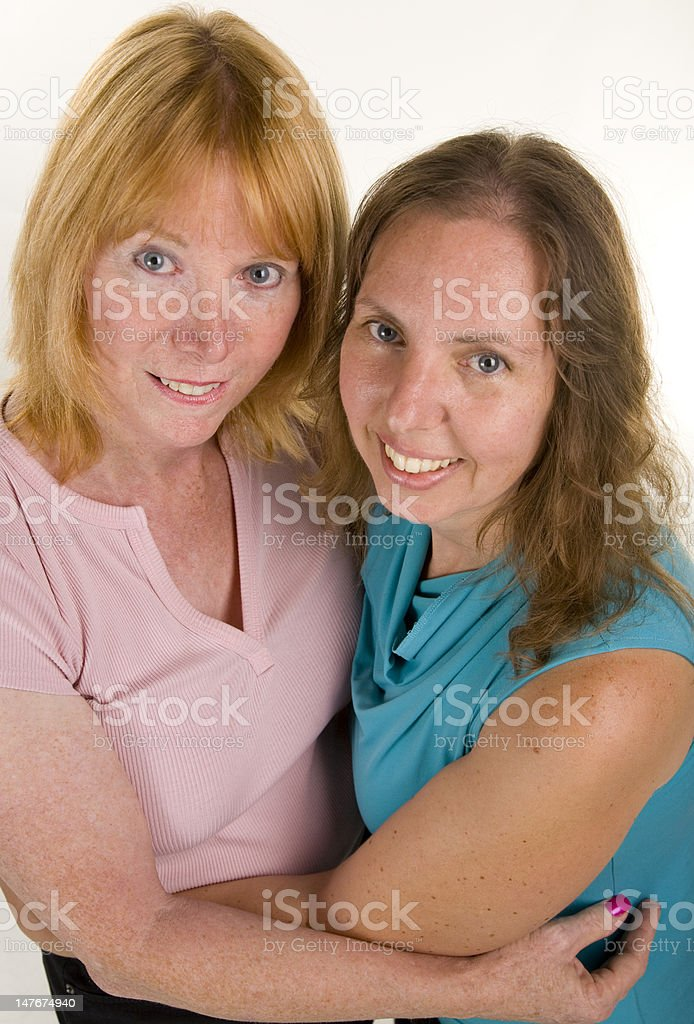 Lesbian Couple Hugging stock photo