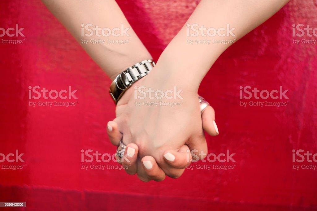 lesbian couple stock photo