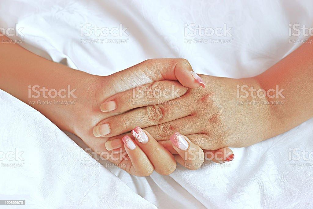 Lesbian hands stock photo