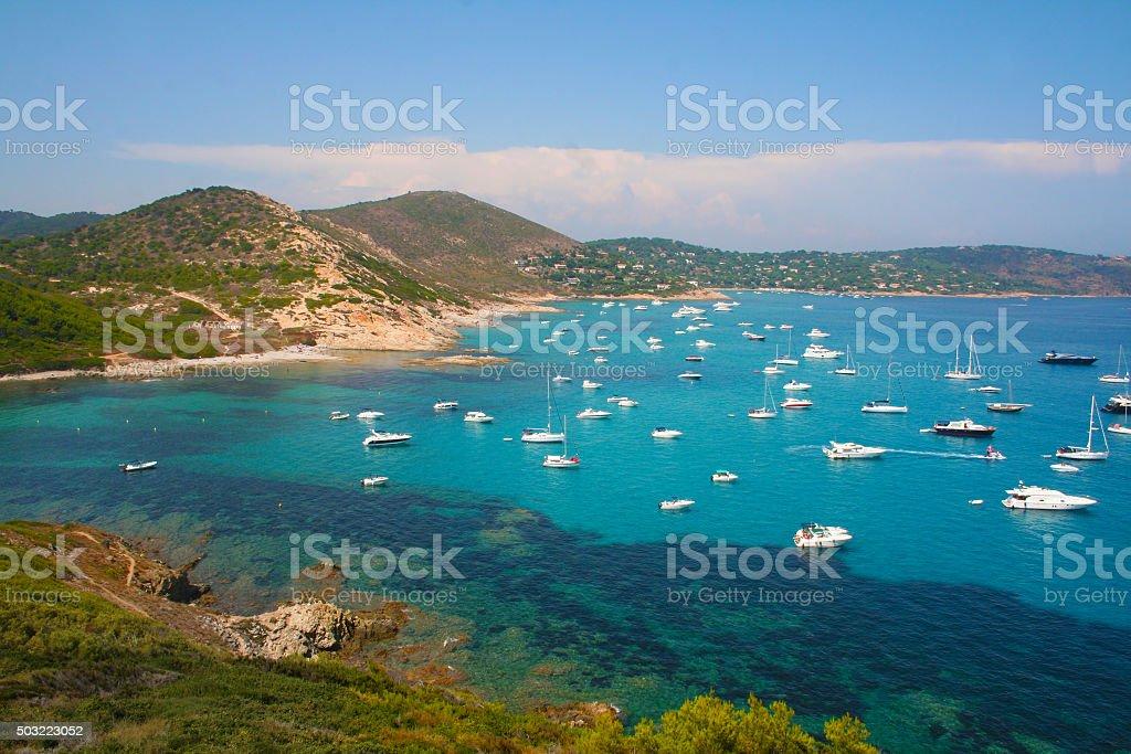 l´Escalet Beach, Cape Camarat, South of Saint Tropez, FRANCE stock photo