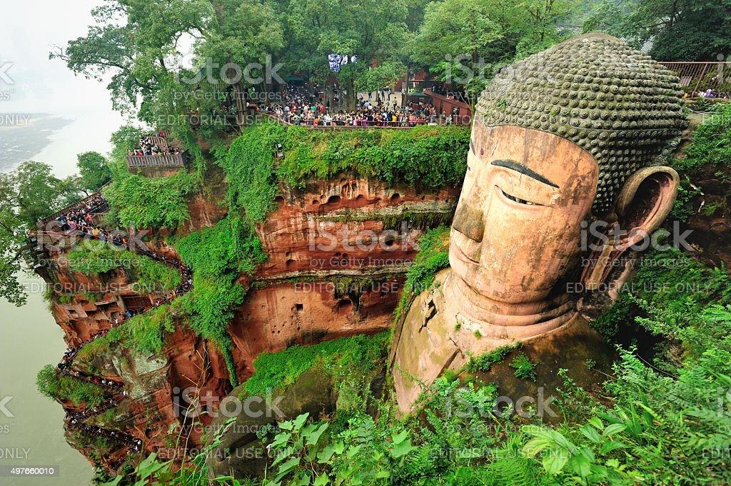 Leshan giant Buddha 01 stock photo