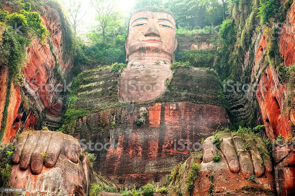 Leshan Giant Buddha, Sichuan Province, China stock photo