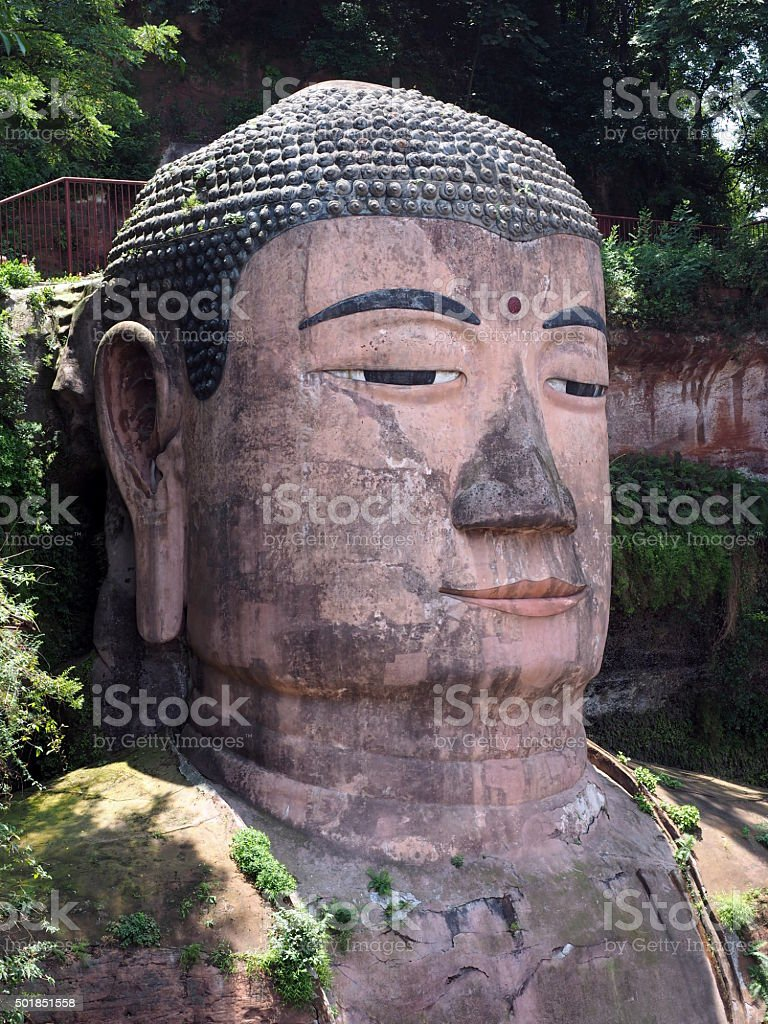 Leshan Grand Giant Buddha statue stock photo