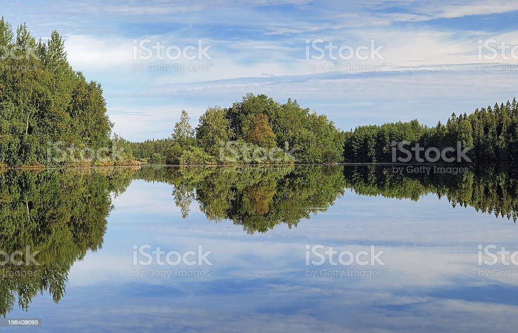 Lesnoe Lake on Bolshoy Solovetsky Island, Russia stock photo