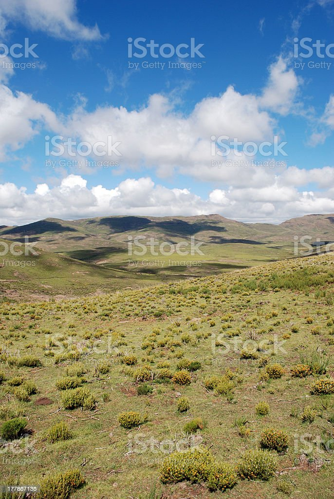 Lesotho, in the mountains royalty-free stock photo