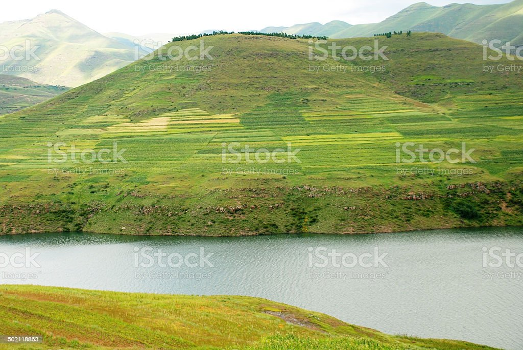Lesotho Landscape stock photo