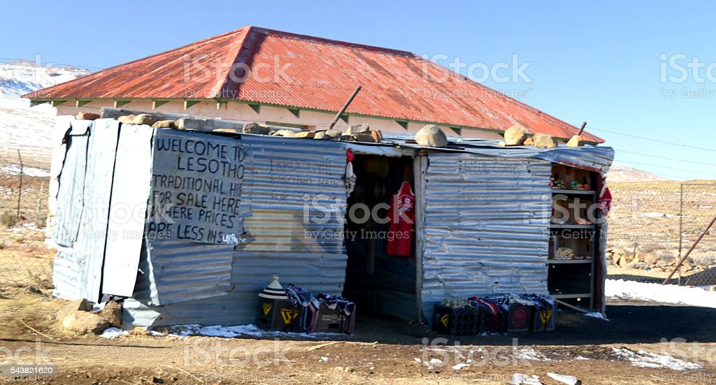 Lesotho Local Shop stock photo
