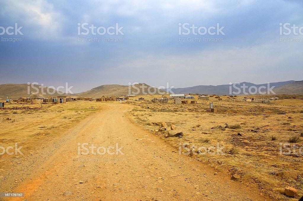 Lesotho Sani Pass Village royalty-free stock photo