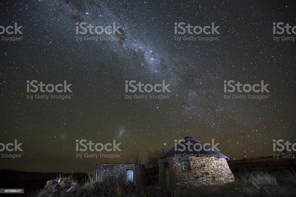 Lesotho Starscape stock photo
