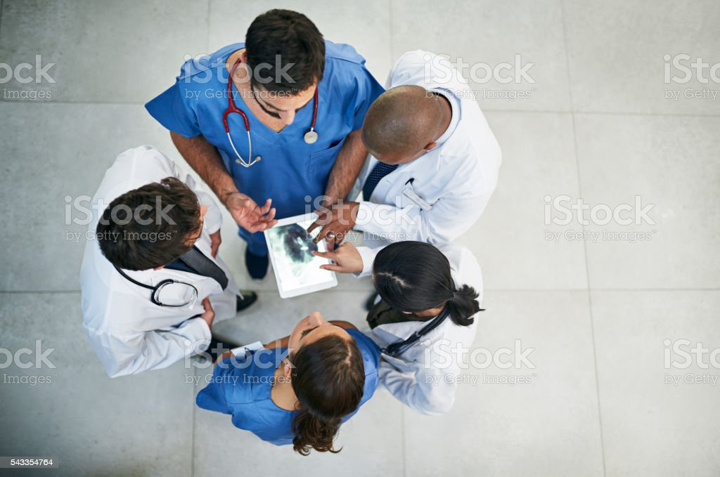 Less paper, more patient care stock photo