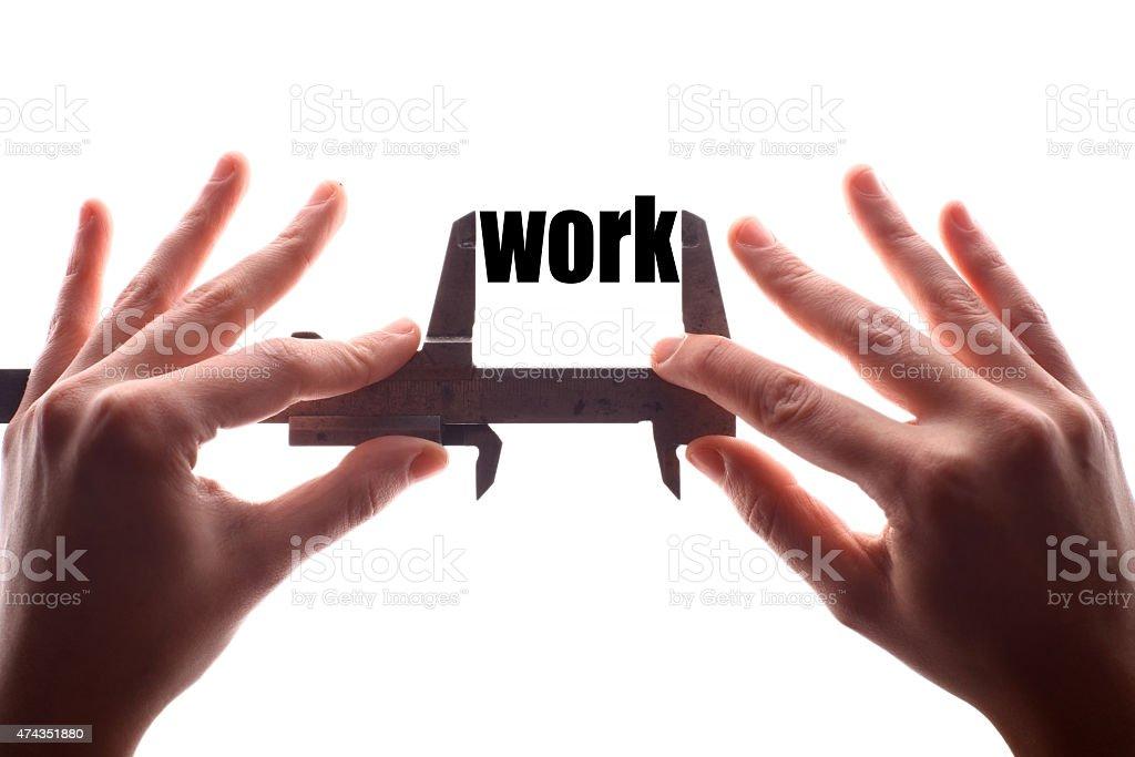 Less work stock photo