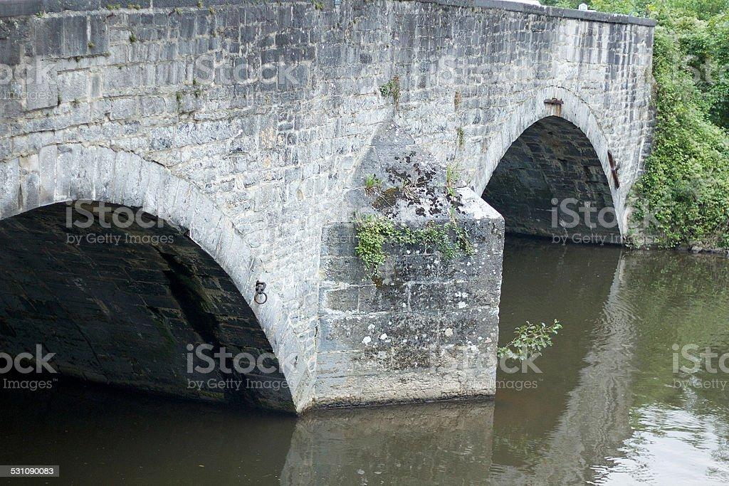 Lesse Bridge (Pont de Lesse) in Dinant, Belgium stock photo