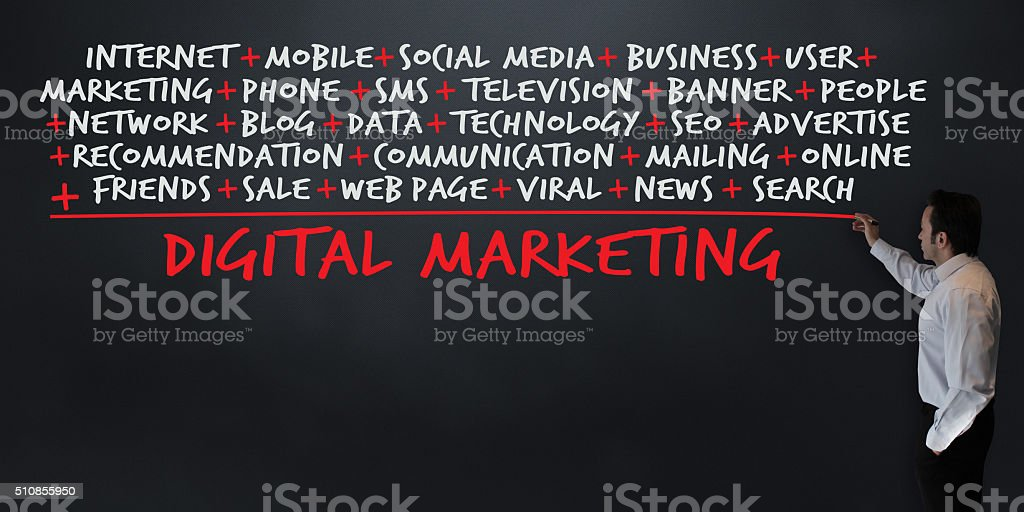Lesson: Digital Marketing Calculation stock photo