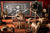 A lesson on photography by cameras