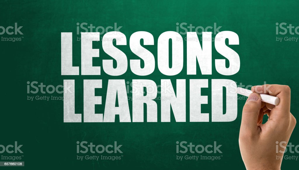 Lessons Learned stock photo