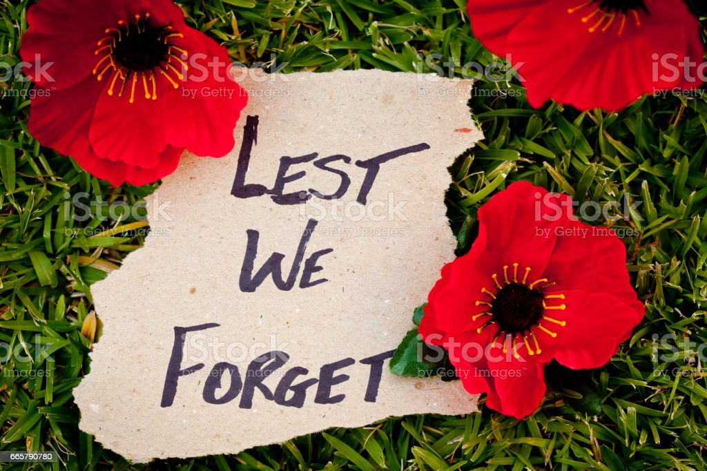 Lest We Forget - Anzac - Rememberance stock photo