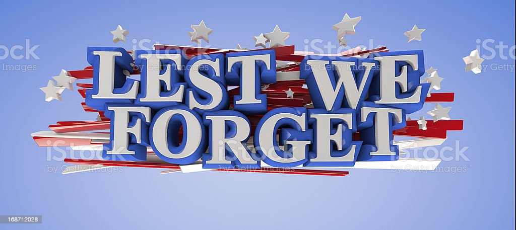 Lest We Forget royalty-free stock photo